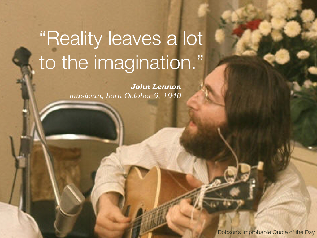 John Lennon, musician, born October 9, 1940