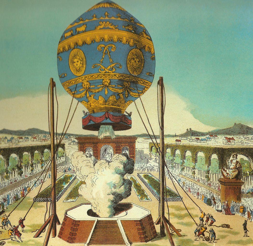 First manned balloon flight