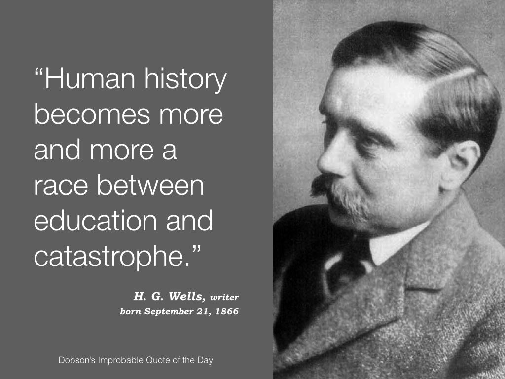 H. G. Wells, writer, born September 21, 1866